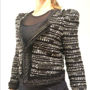 McGuinn black and white boucle jacket